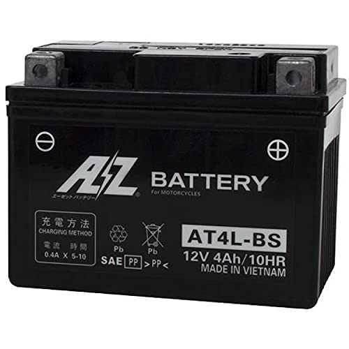 AZ [ エーゼット ] シールド型 バイク用バッテリー [ 液入充電済 ] AT4L-BS