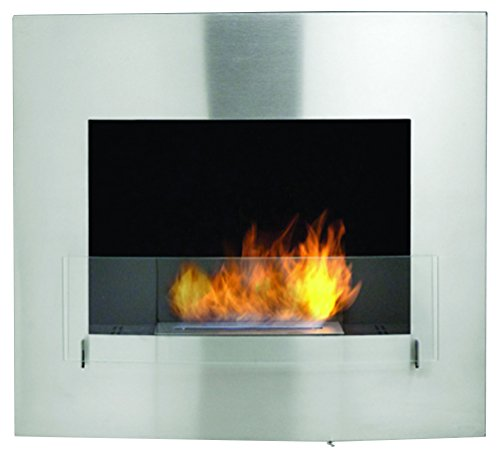 Affordable Eco-Feu Wynn Wallmount Fireplace, Stainless Steel