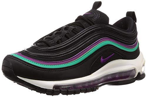 Nike Women's Air Max 97 Shoe Gymnastics, Black (Black/Bright Grape/Clear Emerald/Black 008), 7 UK