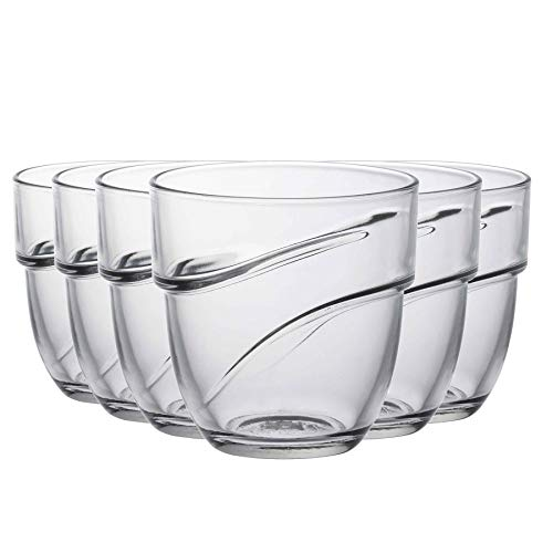 Duralex Wave - Juego de Vasos Bajos para Agua o Zumo -...