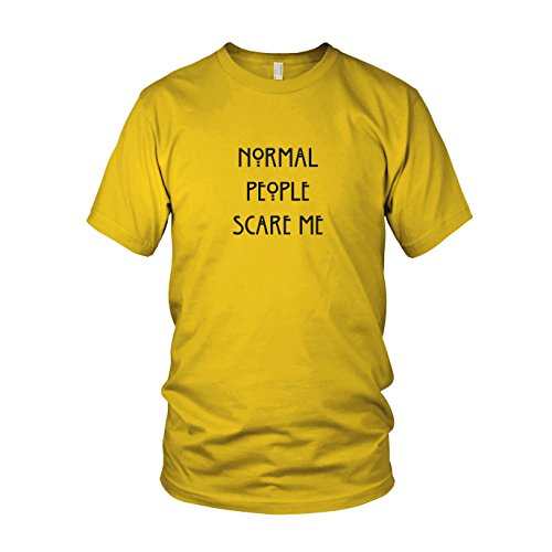 Normal People Scare me - Herren T-Shirt, Größe: XXL, Farbe: gelb