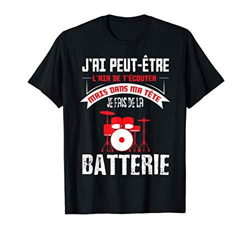 Batterie Percussions | Cadeau Batteur Groupe Musique Rock T-Shirt