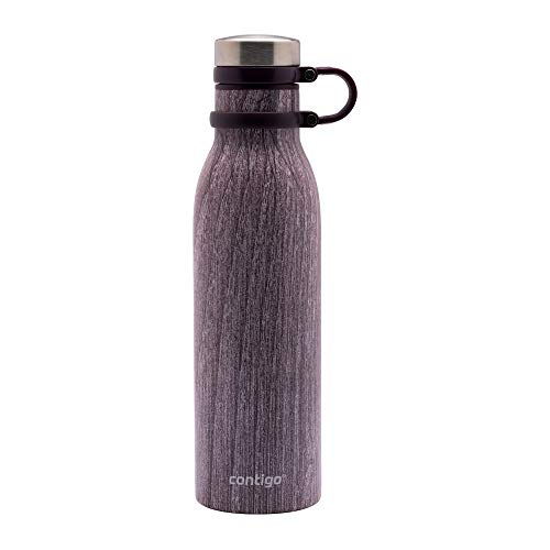 Contigo Matterhorn Drinking Bottle, Stainless Steel Water Bottle with Thermalock Insulation, BPA-free Tumbler with Screw Cap, 100% Leak- and Spill proof, Blondewood, 590 ml