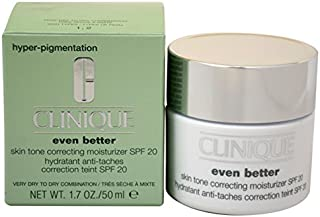 Clinique SPF 20 Even Better Skin Tone Correcting Moisturizer Very Dry to Dry for Unisex, 1.7 Ounce