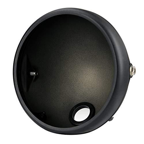 PQZATX Base Faro per Motociclo Base per Faro Retro Prince da 7 Pollici Modificata per Moto Base Faro Un LED per Coperture