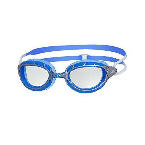 Zoggs Schwimmbrille Predator, silver/blue/clear, Einheitsgröße