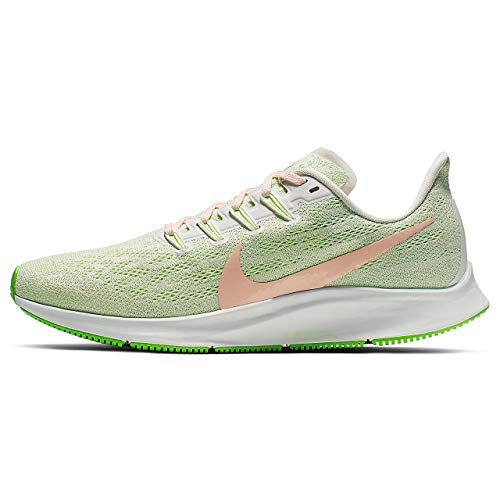 Nike Air Zoom Pegasus 36, Running Shoe Womens, Phantom/BIO Beige-Barely Volt, 43 EU