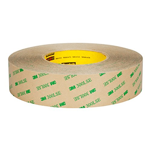 3M Adhesive Transfer Tape 9672LE, Clear, 1 in x 60 yd, 5 mil, 9 Rolls per case