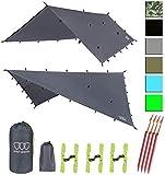 Best Tarp For Camping - 12ft Extra Large Tarp Hammock Waterproof Rain Fly Review