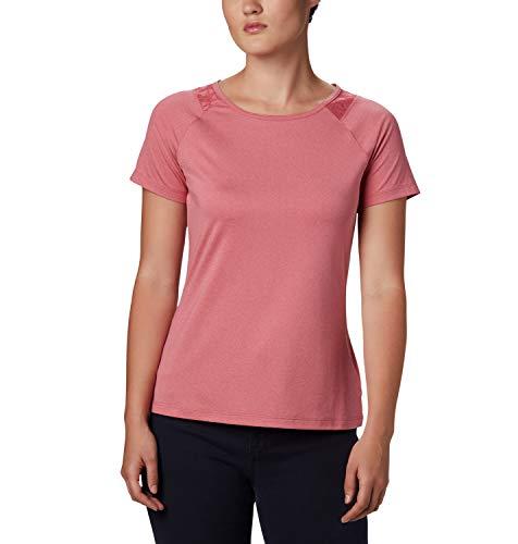 Columbia To Point II Camiseta Térmica de Manga Corta, Mujer, Rosa (Rouge Peak Heather), XL