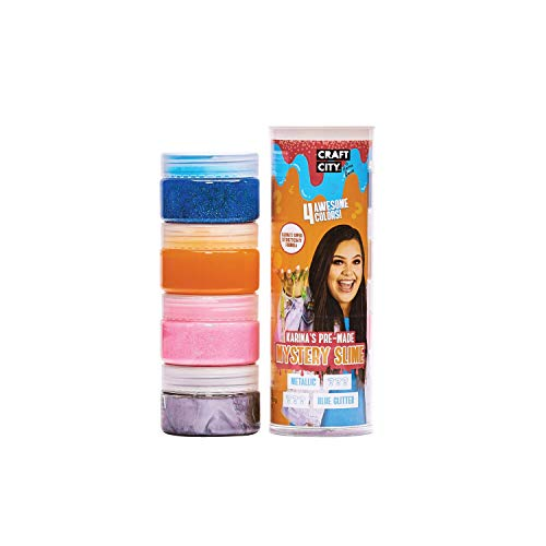 Craft City Karina Garcia Mystery Slime | Orange | 4 Pack | Borax Free | Pre Made Slime | Ages 8+