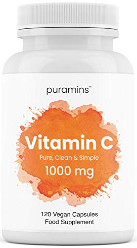 Vitamin C 1000mg No Magnesium Stearate or Additives - 120 Capsules, High Strength, Ascorbic Acid, Vegan – from puramins