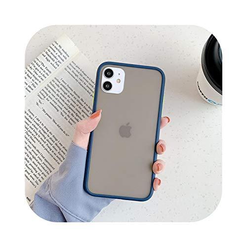 Para iPhone 11 Pro Max 7 8 Plus 12 Mini Clear Cute Candy Color Bumper a prueba de golpes caso del teléfono para iPhone XS Max X XR SE-T5-para iPhone 7 Plus