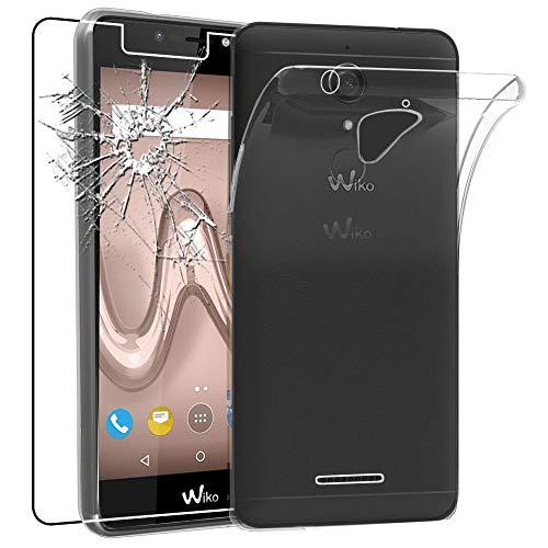 ebestStar - kompatibel mit Wiko Tommy 2 Plus Hülle Handyhülle [Ultra Dünn], Durchsichtige TPU Schutzhülle, Soft Flex Silikon, Transparent +Panzerglas Schutzfolie [Phone: 155.3x76.8x8.9mm 5.5