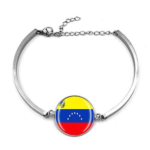 Pulsera ajustable estilo bandera de Venezuela, regalo de recuerdo de viaje, pulsera de moda