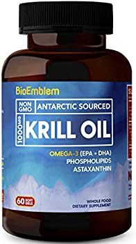 BioEmblem 1000mg Antarctic Krill Omega-3 Oil Supplement