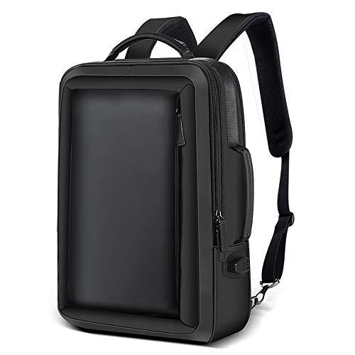 TZZ Sac à Dos Grande capacité avec Compartiment pour Ordinateur Portable de 15 Pouces, Port de Chargement USB, Sac à Dos université, Business et Voyage - Noir