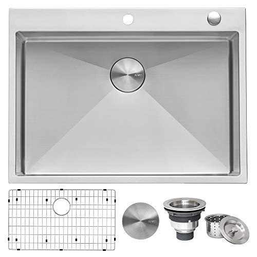 Ruvati 30 x 22 inch Drop-in Tight Radius Topmount 16 Gauge Stainless Steel Kitchen Sink Single Bowl - RVH8009