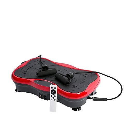 Lecc Altoparlanti Bluetooth Vibrazione con Piastra Vibrazione Fitness con Perdita di Peso Macchina per Vibrazione Corpo Intero con Telecomando E Bande di Resistenza Allenatore Allenamento