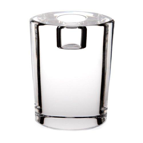 CRISTALICA Kerzenhalter Kerzenständer Candleholder Starlight 10 cm Oval Transparent Kristall