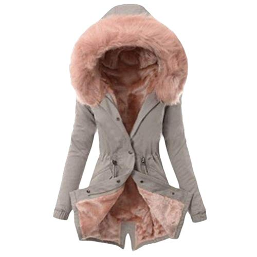 Dames Riem Parka Fleece Hooded Winterjas Gevoerd Bovenwerk