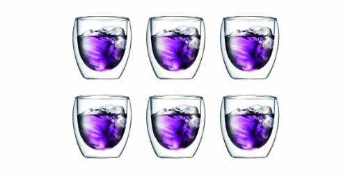 Bodum Pavina doppelwandiges Thermoglas, 237 ml, 6 Stück