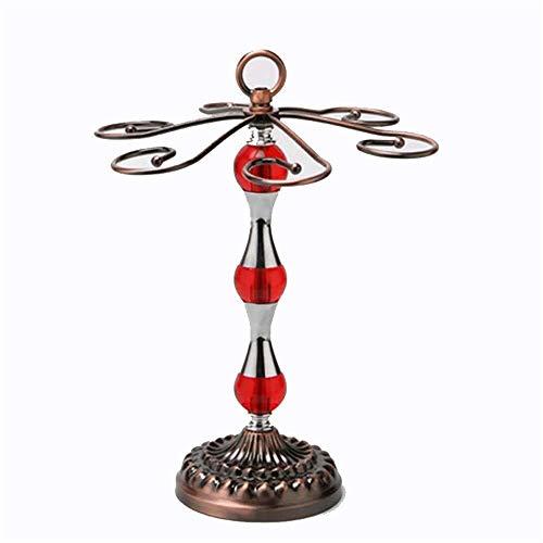 Estantería de vino Copa de vino elevada botellero botellero 6 de gancho fija los bastidores de almacenamiento de vino de mesa copa de vino cristal de la pantalla rejilla de secado rejilla de metal por