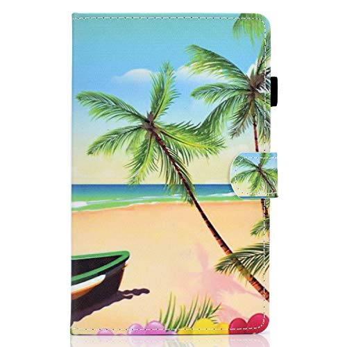 zl one Compatible con/Reemplazo para Tablet PC Samsung Galaxy Tab A7 Lite 8.4 pulgadas 2021 T220 T225 PU Cuero Flip Cover Stand Magnetic Wallet Case (Playa)