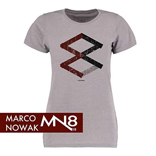 Scallywag® Eishockey Frauen T-Shirt #8 I Größen S - XXL I A BRAYCE® Collaboration (offizielle Marco Nowak #8 Collection) (XL)