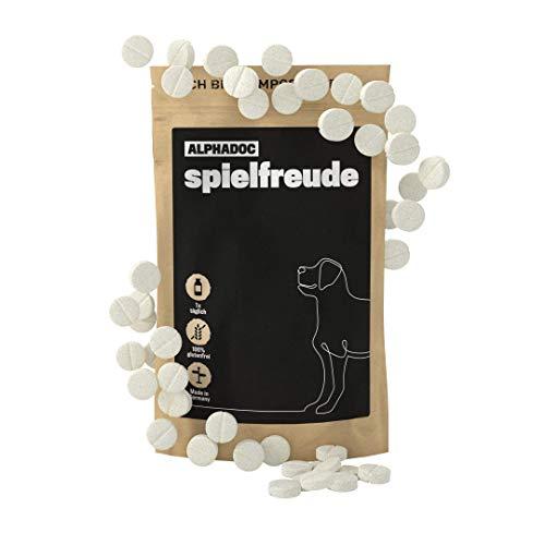 alphazoo spielfreude Gelenk-Tabletten Hunde | Bewegungsfreude & Mobilität | schmerzlindernd | Weidenrinde, Teufelskralle (75g)