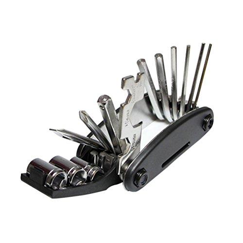 WINOMO Kit de Herramientas de reparación de Bicicletas Conjunto de Herramientas de reparación de mecánico de Bicicletas multifunción Kit de Herramientas de reparación de mecánico de Bicicletas