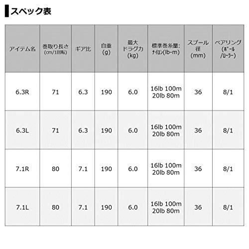 ダイワ(DAIWA)21スティーズATWHLC6.3R