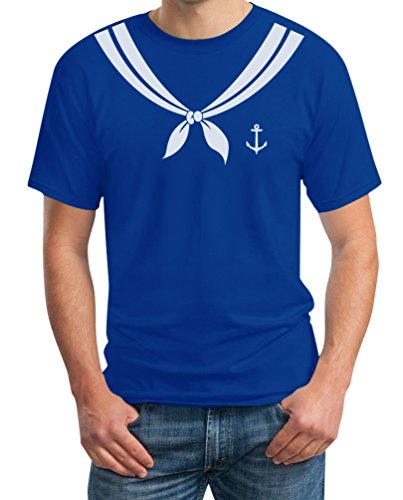 Karnevalskostüm Matrose Matrosin Partner Kostüm Fasching T-Shirt Large Blau