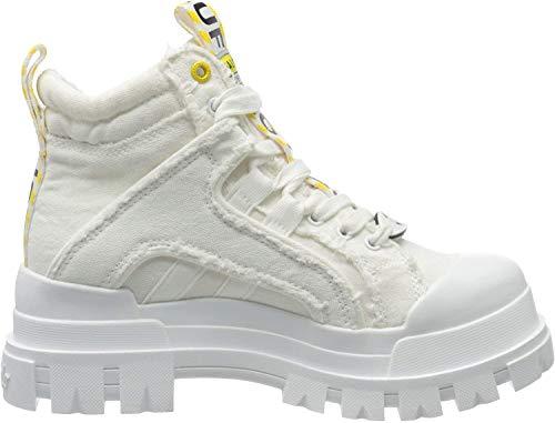 Buffalo Damen Panthera MID Combat Boots, Weiß (White 000), 37 EU