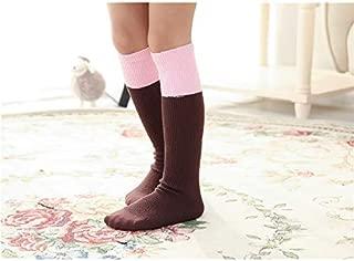 Lovely Socks Children Cotton Socks Kids Cotton Spring and Autumn Vertical Stripe Mid Tube Socks (Grey) Newborn Sock (Color : Coffee)