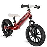 Qplay - Bicicleta sin pedales Tech Balance Bike RACER Roja - Asiento ajustable en 4 alturas y acolchado - Ideal para niños de 2 a 4 años (máximo 30 Kg)