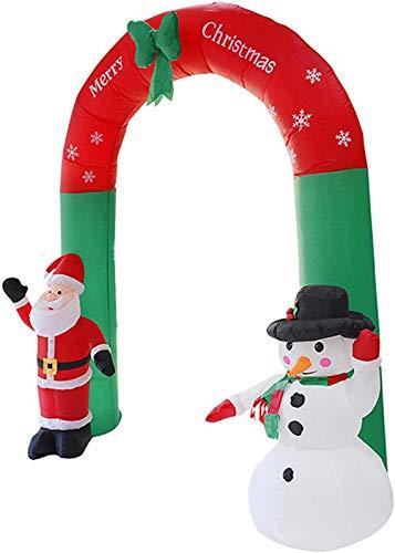 HIGHKAS Arco Inflable de Navidad - Muñeco de Nieve Inflable de Papá Noel de 7.87 pies con Luces LED Decoraciones para Interiores y Exteriores, para Patio/jardín/césped