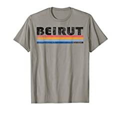 Stylish Beirut Lebanon Souvenir design - gift design. This graphic design features a cool retro font with colored stripe underlining. Our graphics are distressed to give a vintage classic look and is sure to be a hit whenever you wear it. Whether you...