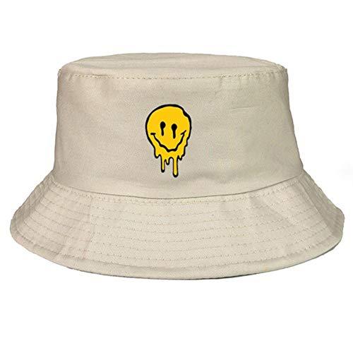 Sombrero Pescador Gracioso Sonrisa Sombrero Sombrero Hombres Mujeres Falsificar Tapa De Pesca Casual out Fría Protector Solar Pescador Sombreros Hip Hop Casual Panama Gorra, 56-58 Cm