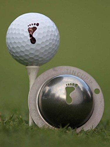 Tin Cup, Golfball-Schablone mit dem Motiv