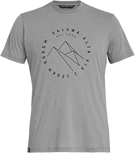 Salewa 00-0000027406_624 T-Shirt Homme, Heather Grey, FR : XL (Taille Fabricant : 52/X-Large)