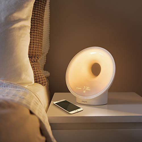 Philips Connected Sleep und Wake-up Light, Einschlafhilfe, Natürlich aufwachen, Umgebungssensor, App Connected, HF3671/01 - 10