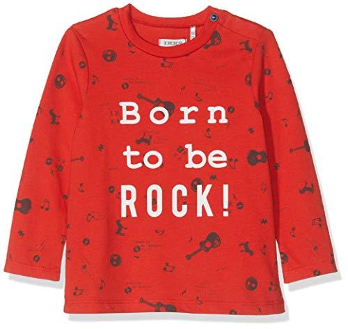 IKKS Junior baby-jongens Tee Rouge Born to Be Rock T-shirt