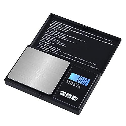 1 Uds balanza digital precisa 100/200/300/500 / 1000g 0,01 / 0,1g pantalla LCD escala de bolsillo peso en gramo para cocina joyería droga 100g 0,01g
