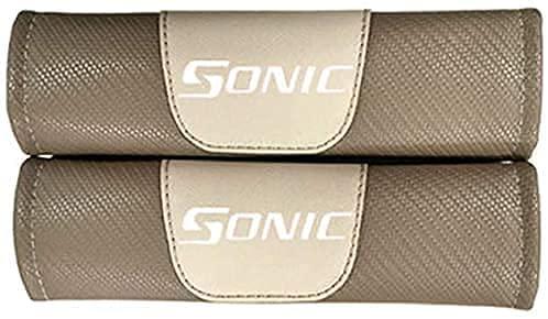 2pcs Fibra De Carbono Almohadillas Para CinturóN De Seguridad para Chevrolet Sonic, Comfort Almohadilla Hombro Accessories, Cuello Almohada