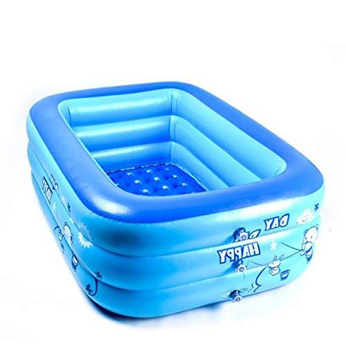 Vinteen Whirlpools Aufblasbare Badewanne mit elektrischer Luftpumpe Faltbare, langlebige Baby-Whirlpools for Erwachsene (Größe: 130 x 80 x 40 cm)