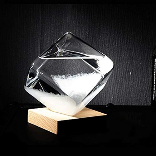 Transparente Kristall Wassertropfen Wettervorhersage Flasche Sturm Glas Flüssigen Holz Basis Ornament Home Hochzeit Decor Craft Geschenk