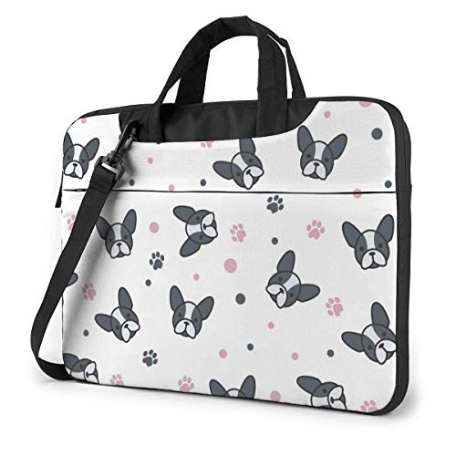 Laptop Tote Bag, Cartoon Frenchie Durable Laptop Travel Bag with Strap Fits 13-15.6in Laptop for Business