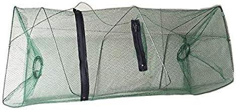Cofemy Folding Fish Net, Fish Trap Net Fishing Gear Crab Shrimp Crayfish Lobster Foldable Crayfish Catcher Fishing Accesso...