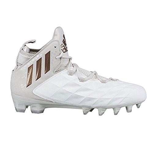 adidas Freak Lax Mid Cleat - Unisex Lacrosse 13 White/Copper Metallic